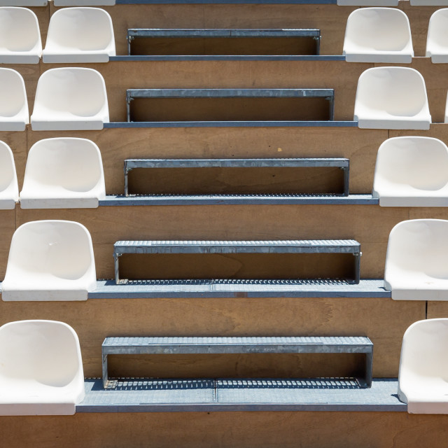 """""""Rows of plastic seats"""" stock image"""