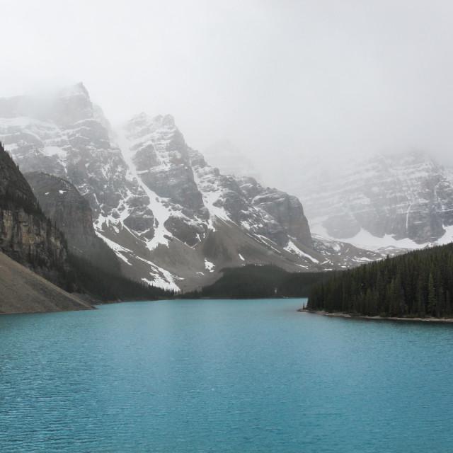 """Beautiful Moraine Lake"" stock image"