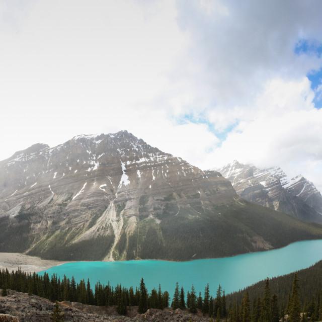 """Panoramic view of Payto Lake"" stock image"