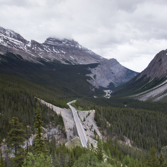 """Road Through the Rocky Mountain"" stock image"