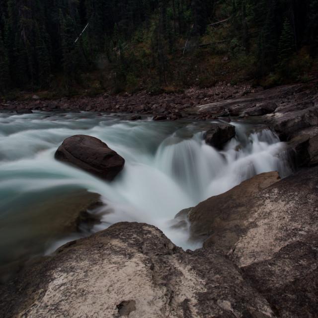 """""""Athabasca Falls"""" stock image"""