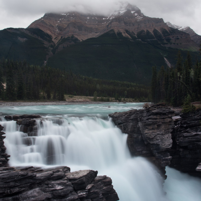 """Athabasca Falls II"" stock image"