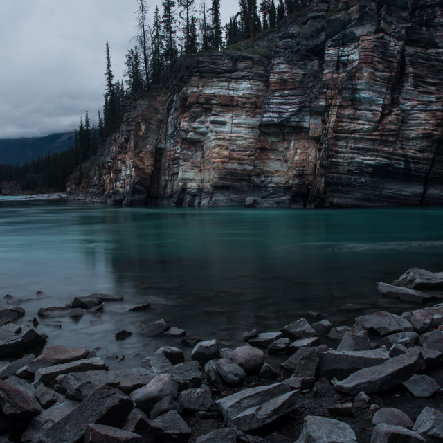 """Beautiful Athabasca River"" stock image"
