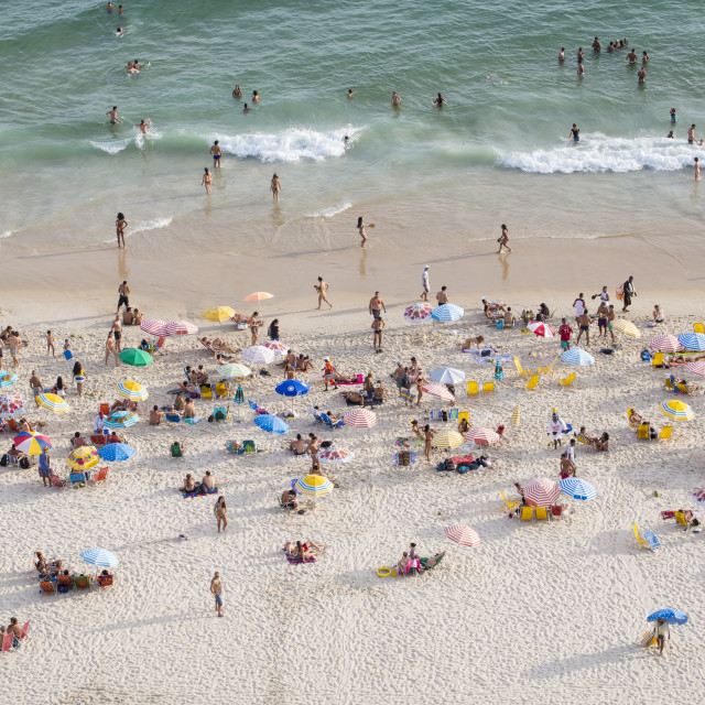 """Ipanema Beach, Rio de Janeiro, Brazil, South America"" stock image"