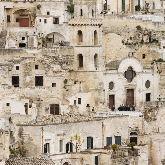 """Sasso Barisano, Matera, Basilicata, Italy, Europe"" stock image"