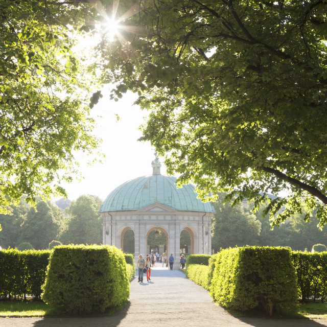 """Diana Temple Hofgarten park, Munich, Bavaria, Germany"" stock image"