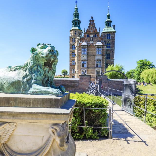 """""""Rosenborg Castle built in the Dutch Renaissance style, Copenhagen, Denmark"""" stock image"""