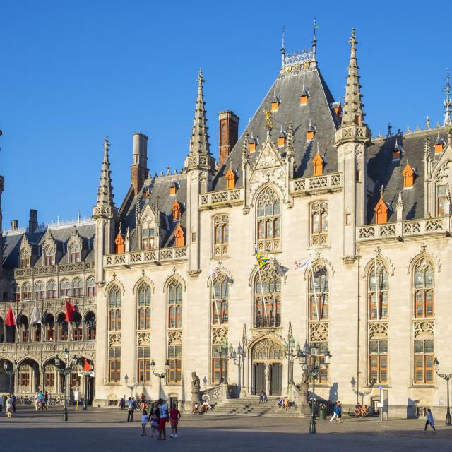 """""""Belgium, West Flanders (Vlaanderen), Bruges (Brugge). Provinciaal Hof..."""" stock image"""