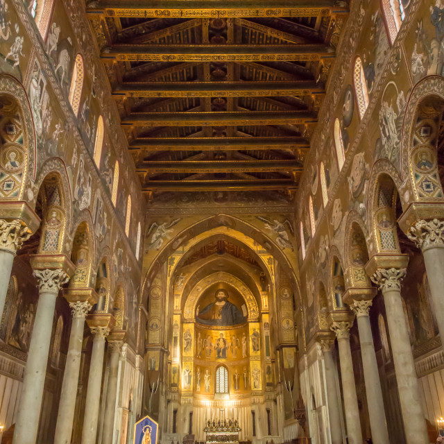 """""""Monreale Cathedral, Palermo, Sicily, Italy, Europe"""" stock image"""