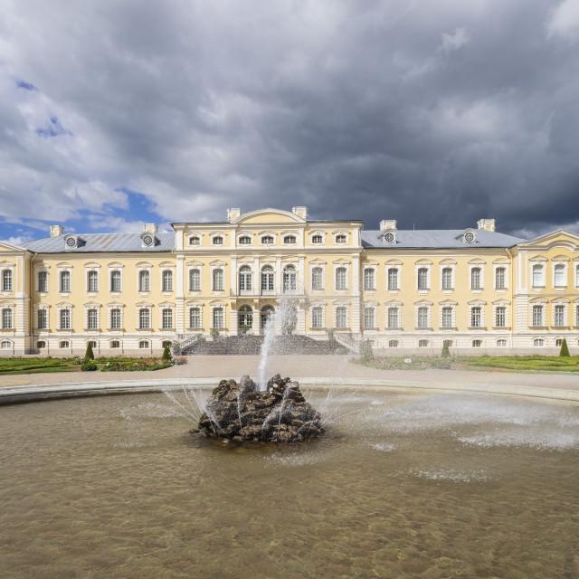 """""""Rundale Palace, Latvia, Baltic States, Europe"""" stock image"""