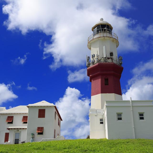 """St. David's Lighthouse, St. David's Island, St. George's Parish, Bermuda"" stock image"