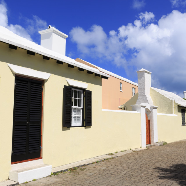 """Broad Alley, Town of St. George, St. George's Parish, Bermuda"" stock image"