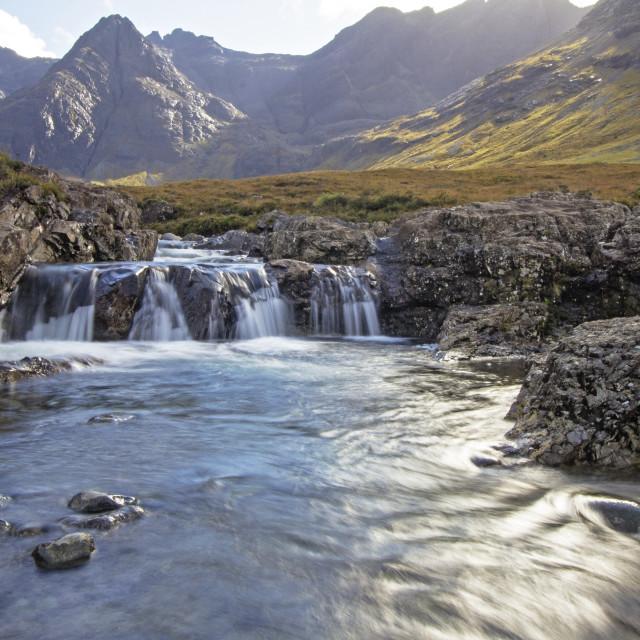 """Fairy Pools, Isle of Skye"" stock image"