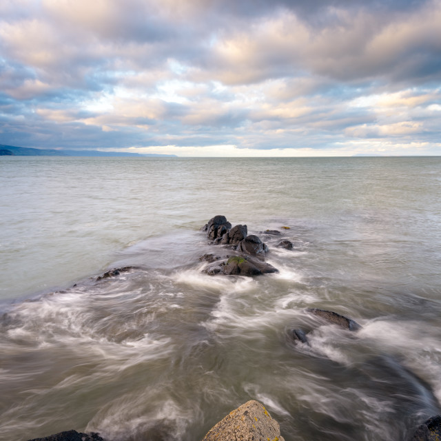 """""""From Skernaghan's point, Browns Bay, Islandagee"""" stock image"""