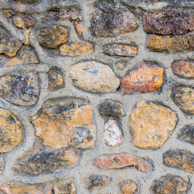 """antique old brick wall texture background. Copy space for text"" stock image"