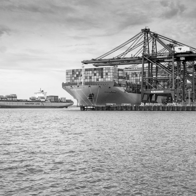 """Felixstowe container port"" stock image"