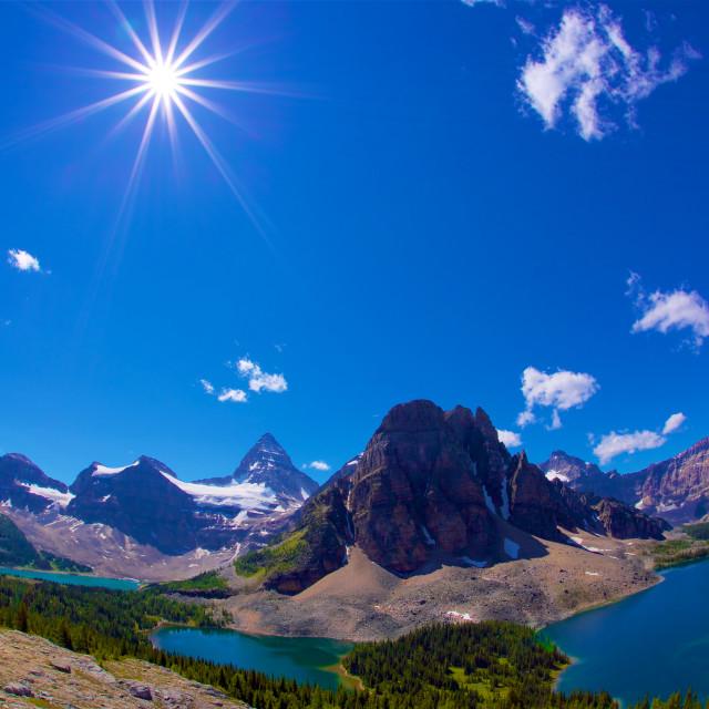"""Assiniboine Provincia Park"" stock image"
