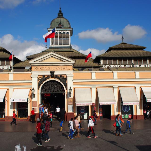 """""""Mercado Central, Santiago"""" stock image"""