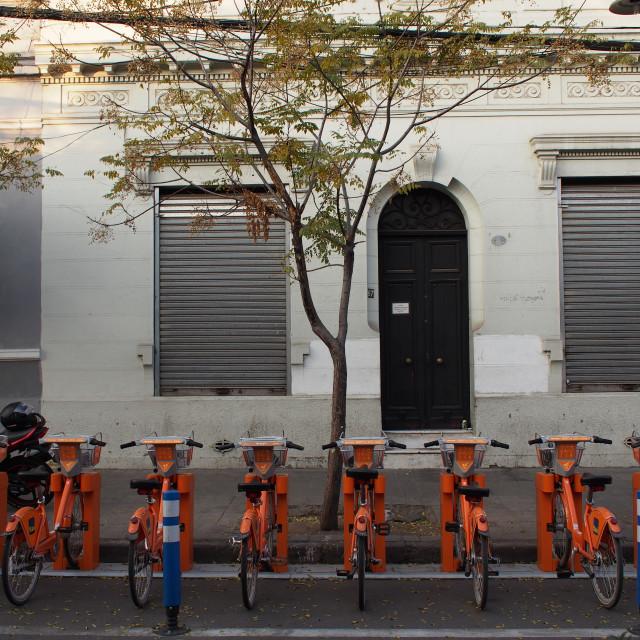 """""""Bikes in Bellavista"""" stock image"""