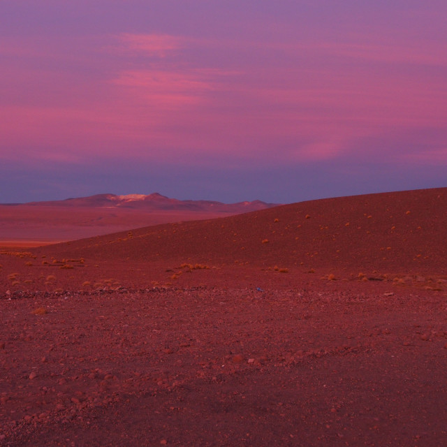 """Sunrise in Bolivia"" stock image"