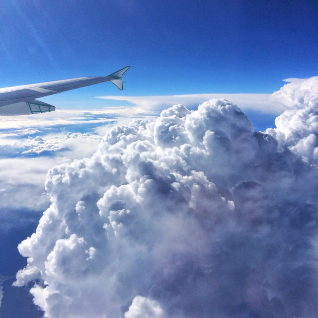 """Puffy clouds"" stock image"