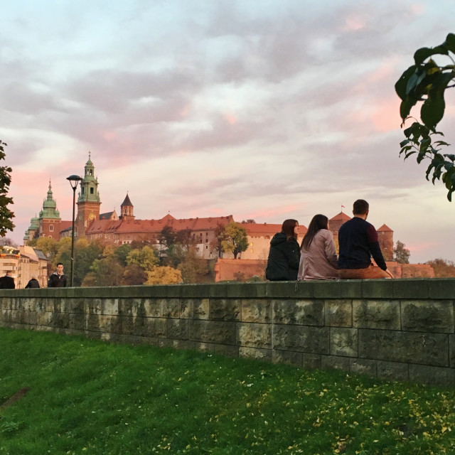 """Autumn sunset in Krakow"" stock image"