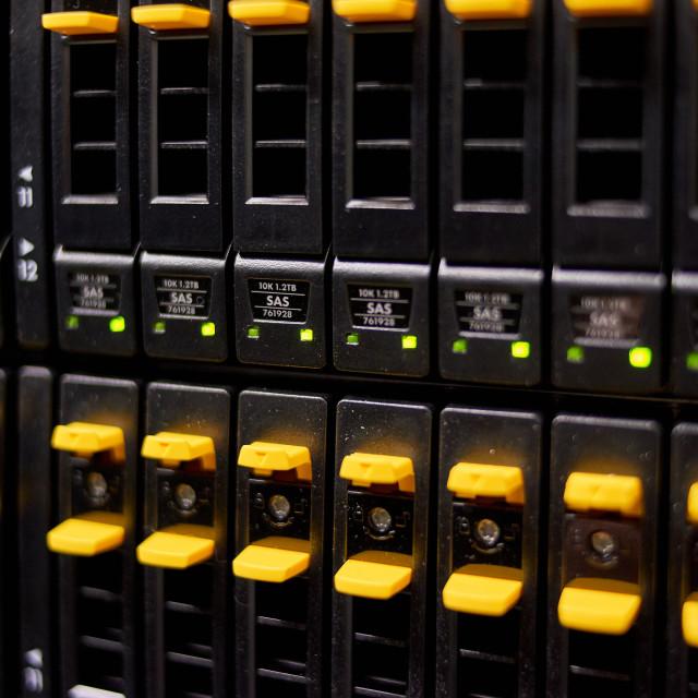 """big data center highspeed server storage"" stock image"