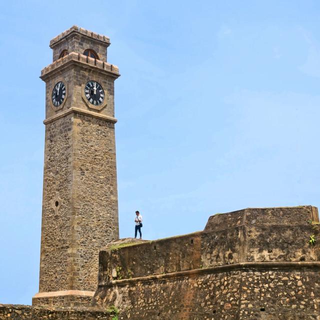 """Galle Fort ClockTower"" stock image"