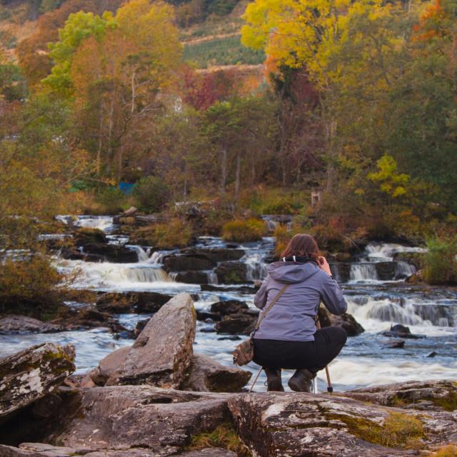 """Photo at Falls of Dochart, Killin"" stock image"