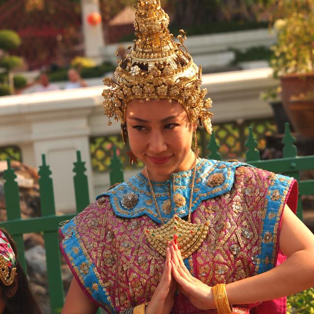 """traditional thai woman"" stock image"