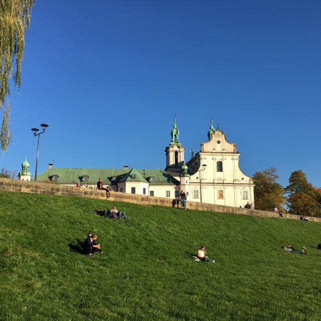 """Skałka Church, Kraków"" stock image"