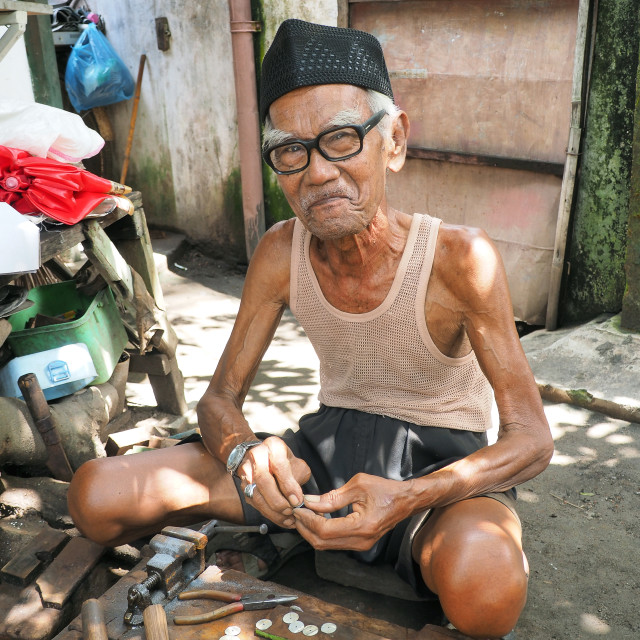 """old Indonesian man"" stock image"