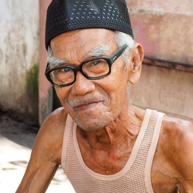 """""""old Indonesian man"""" stock image"""