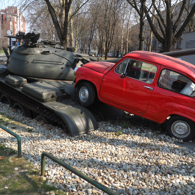 """""""small red car"""" stock image"""