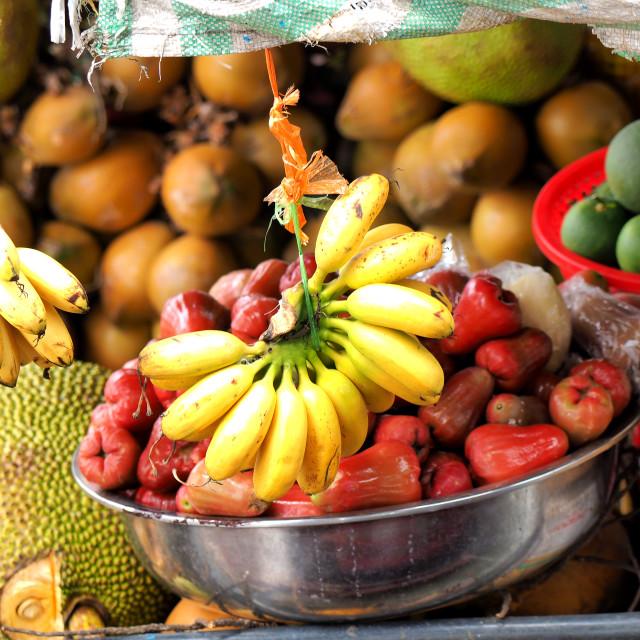 """""""Asian market, exotic fruits"""" stock image"""