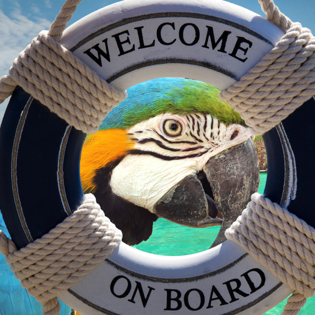 """paradise island postcard"" stock image"