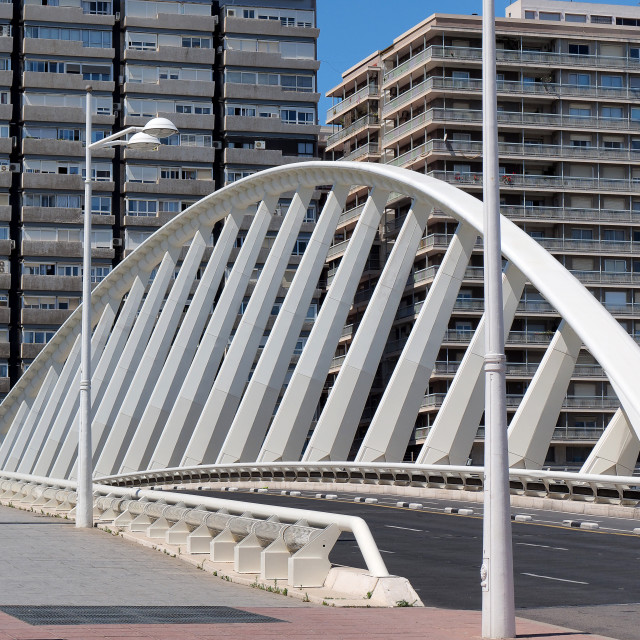 """bridge in Valencia"" stock image"