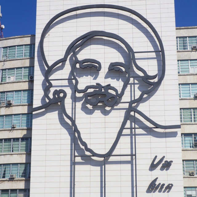 """""""Camilo Cienfuegos - Plaza Revolución"""" stock image"""
