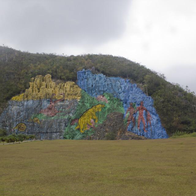 """Mural de la Prehistoria"" stock image"