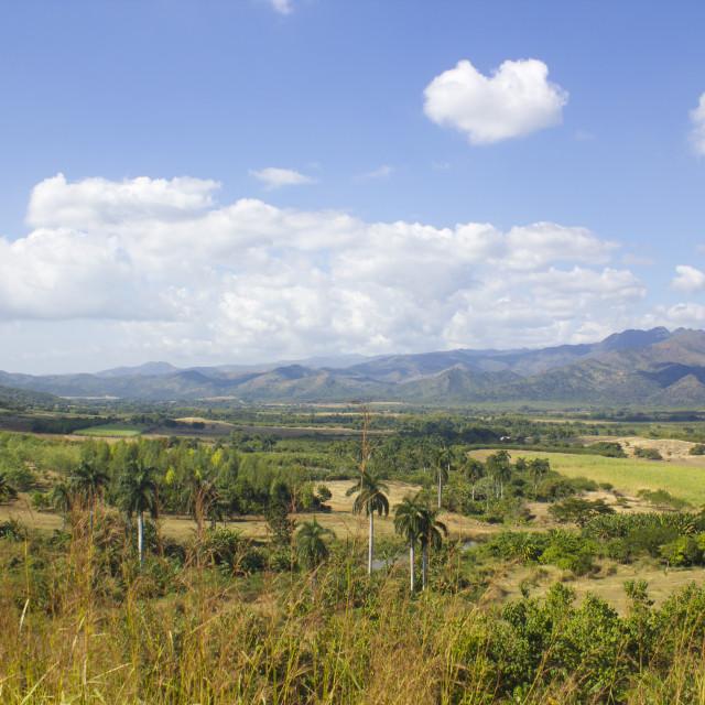 """Panoramic view of Valle de los Ingenios, Trinidad, Cuba"" stock image"