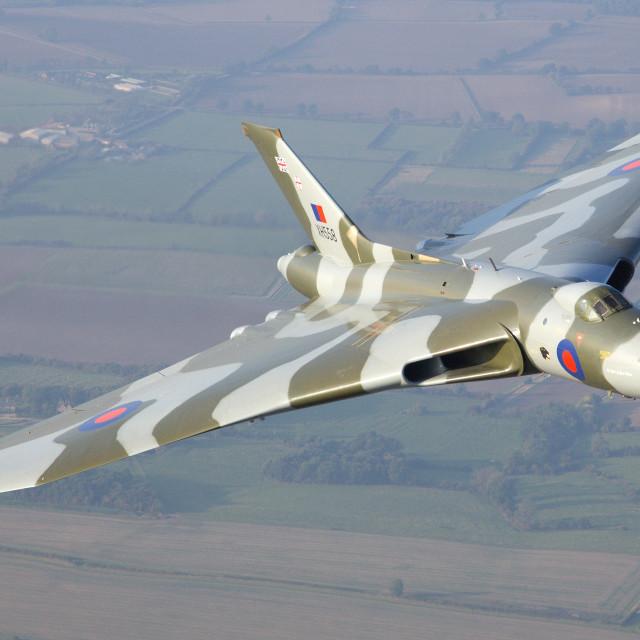 """Avro Vulcan B2 XH558"" stock image"