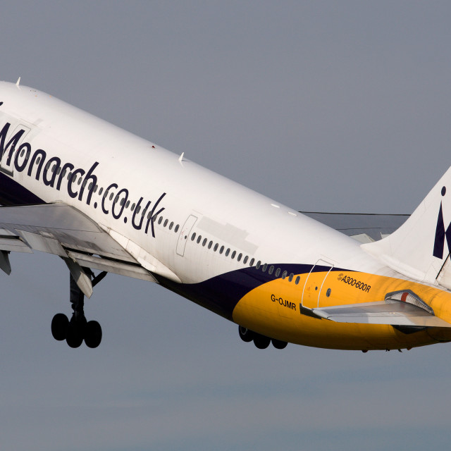 """Monarch A300 Take Off"" stock image"