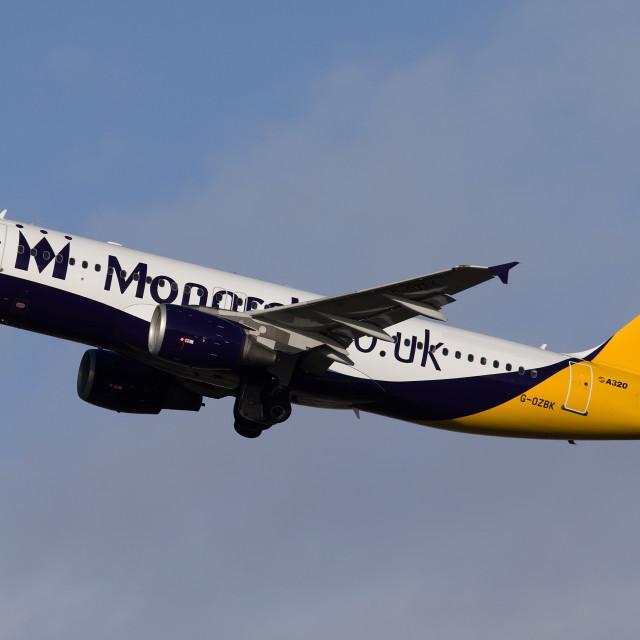 """Monarch A320"" stock image"