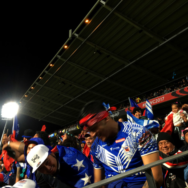 """2017 Rugby League World Cup Samoa Fans"" stock image"