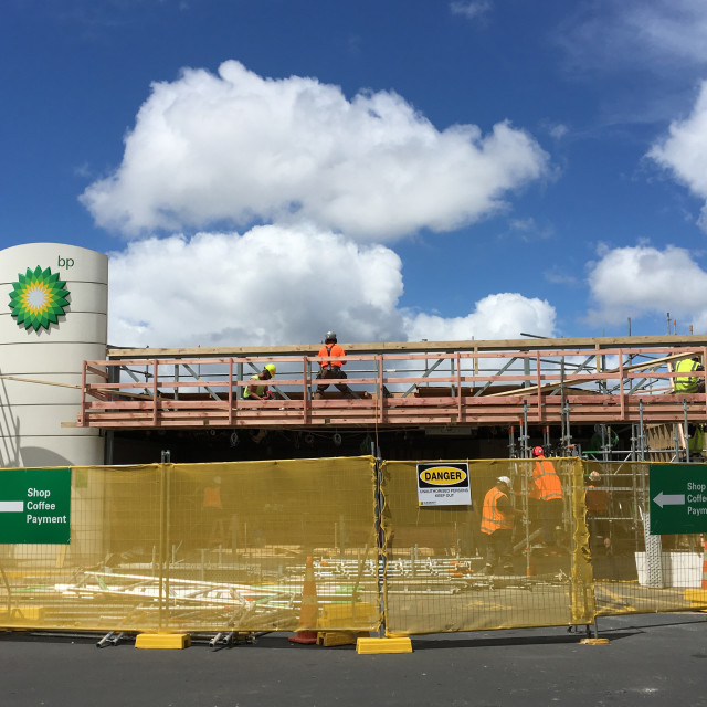 """BP Petrol Station Renovation Auckland"" stock image"