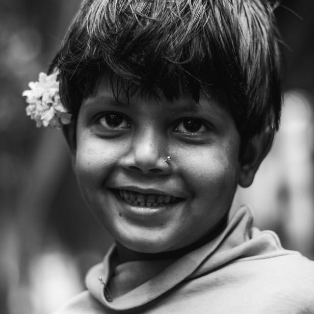 """Innocent Smiling Girl"" stock image"