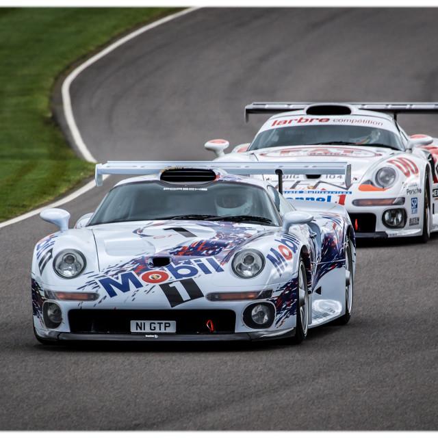 """Porsche 911 GT1s"" stock image"