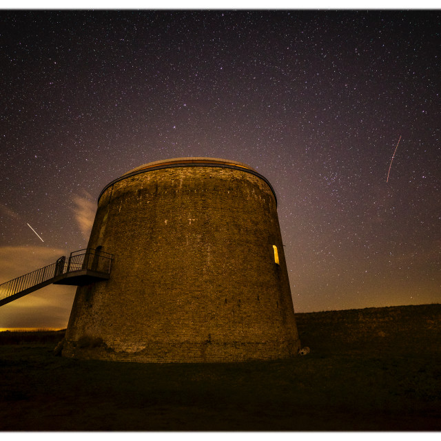 """""""Martello Tower by night"""" stock image"""