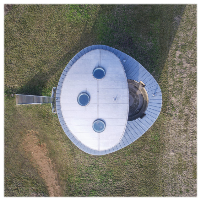"""""""Martello Tower from above"""" stock image"""