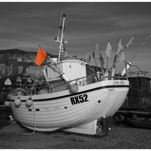 """Hastings Fishing Vessel"" stock image"